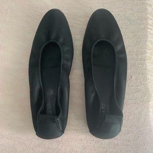 Arche Black Laius Nubuck Leather Ballet Flats